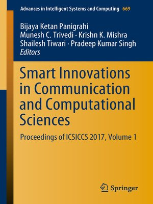 cover image of Smart Innovations in Communication and Computational Sciences